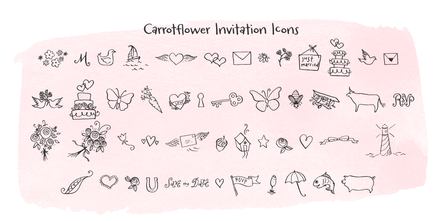 Carrotflower Invitation