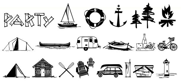 Lake Vacation Doodles