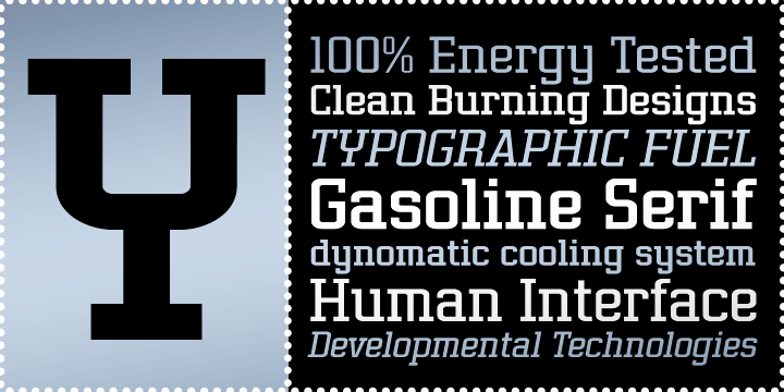 Gasoline Serif BTN Light Oblique