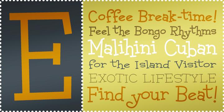 Malihini Cuban BTN Expanded Bold