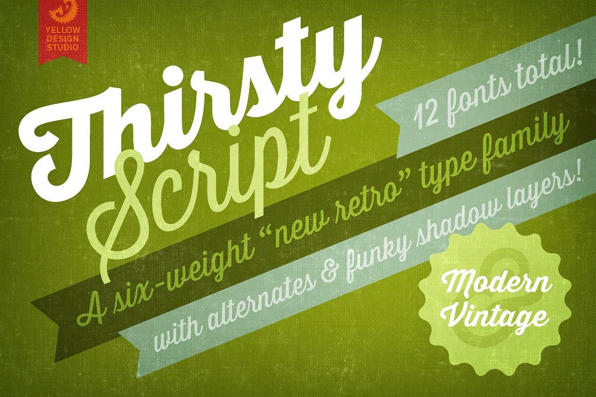 Thirsty Script Bold Shadow