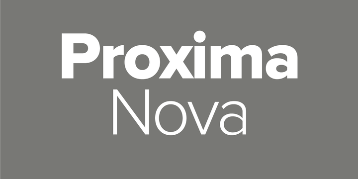 Proxima Nova