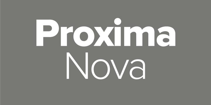 Proxima Nova Black Italic