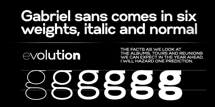 Gabriel Sans Condensed Normal Italic