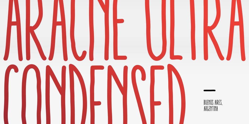 Aracne Ultra Condensed Regular Italic
