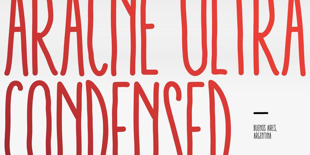Aracne Ultra Condensed Soft Regular Italic