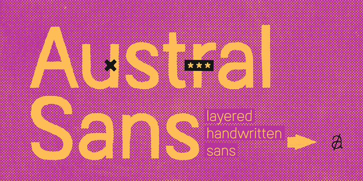 Austral Sans Rough Regular