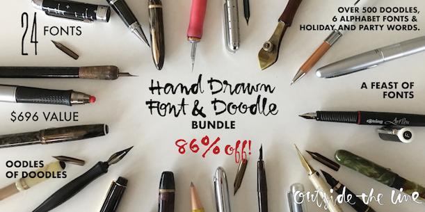OTL Hand Drawn Font & Doodle Bundle