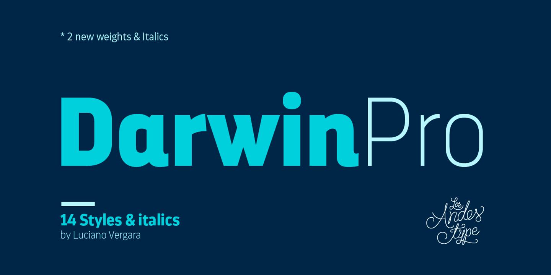 Darwin Pro Extra Light Italic