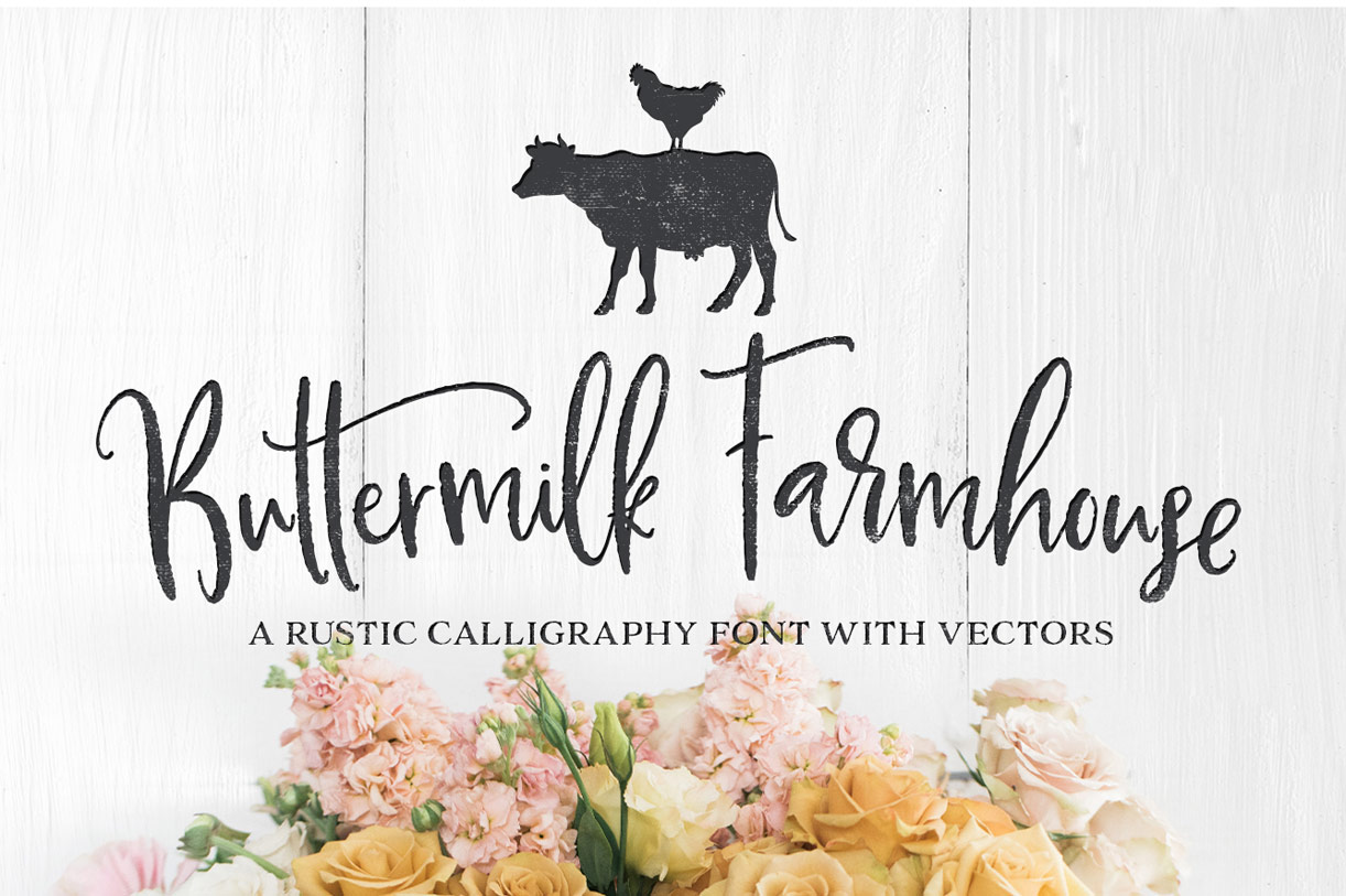 buttermilk farmhouse font family by make media co   font bros