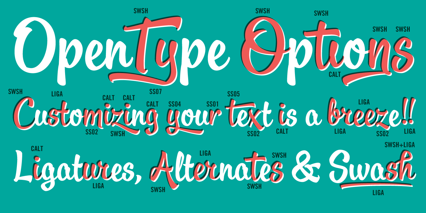 Oldskool Script Font Family by Schizotype : Font Bros