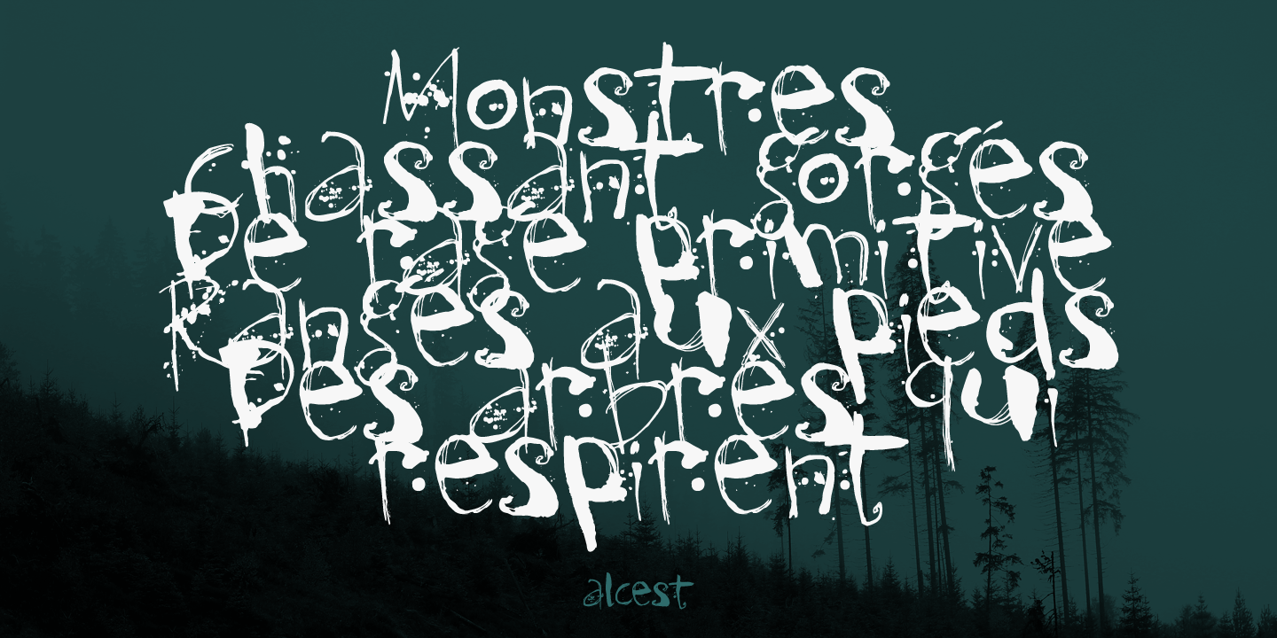 Kodama Forest Font Family by Hanoded : Font Bros