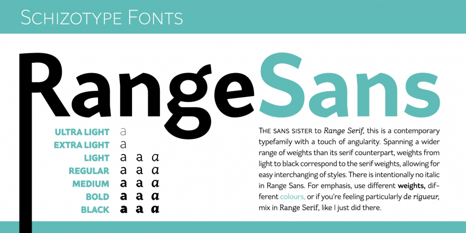Range Sans Regular