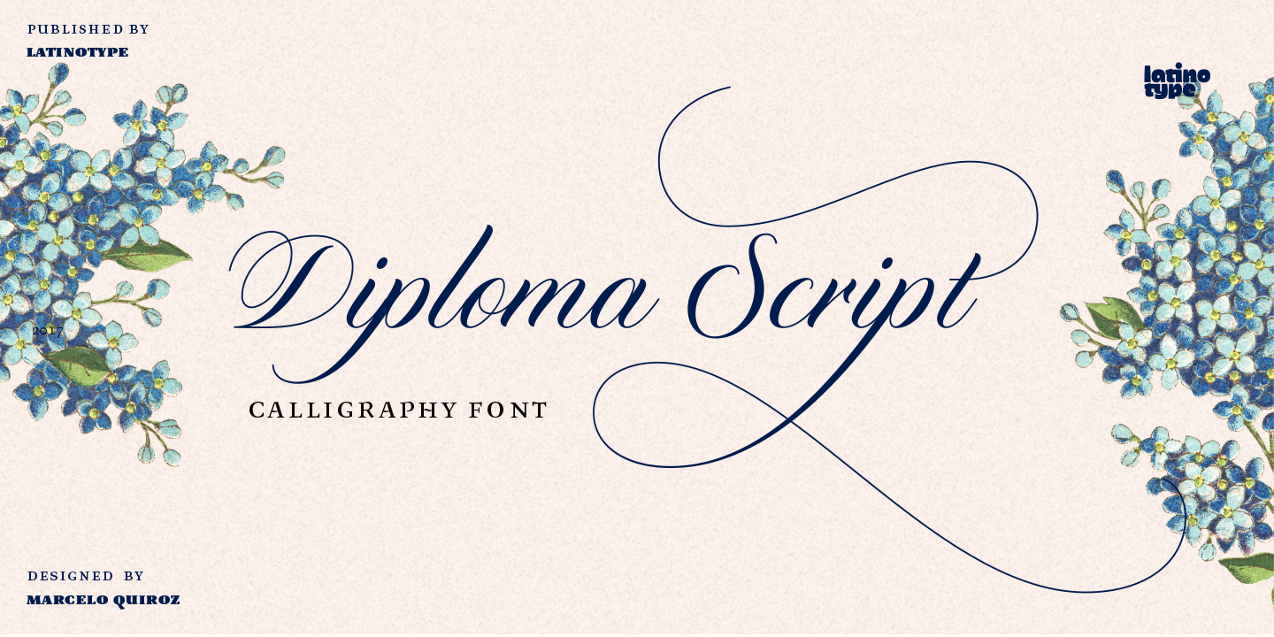 diploma script font family by latinotype font bros diploma script