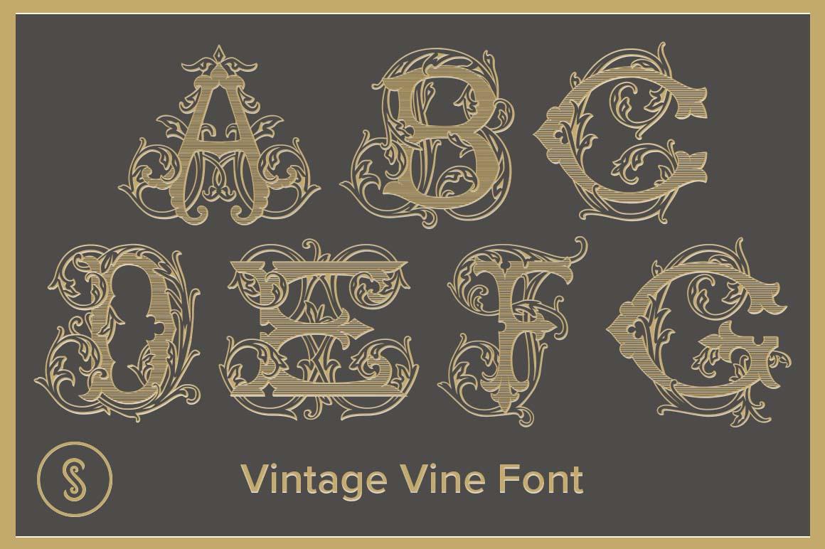 Vintage Vine Font