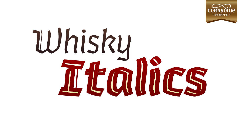 Whisky Italics 1340 Fill Italic