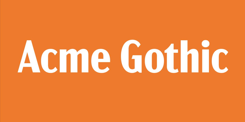 Acme Gothic Semibold