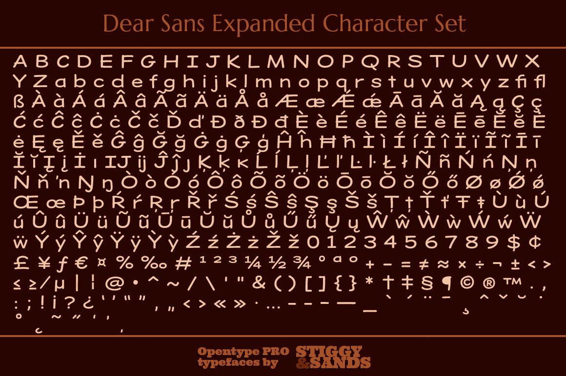 Dear Sans Expanded