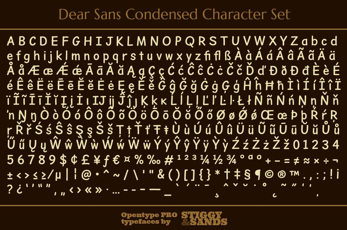 Dear Sans Condensed