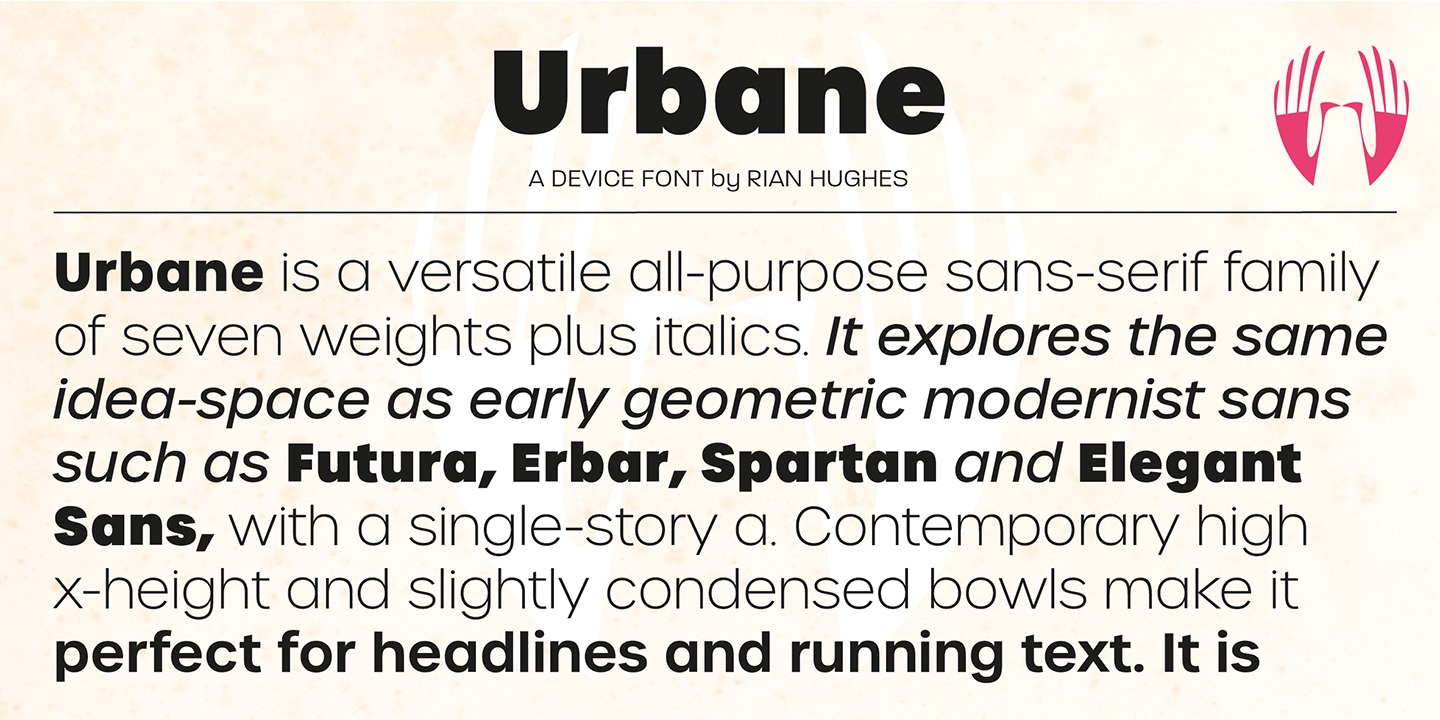 Urbane Font Family by Device : Font Bros