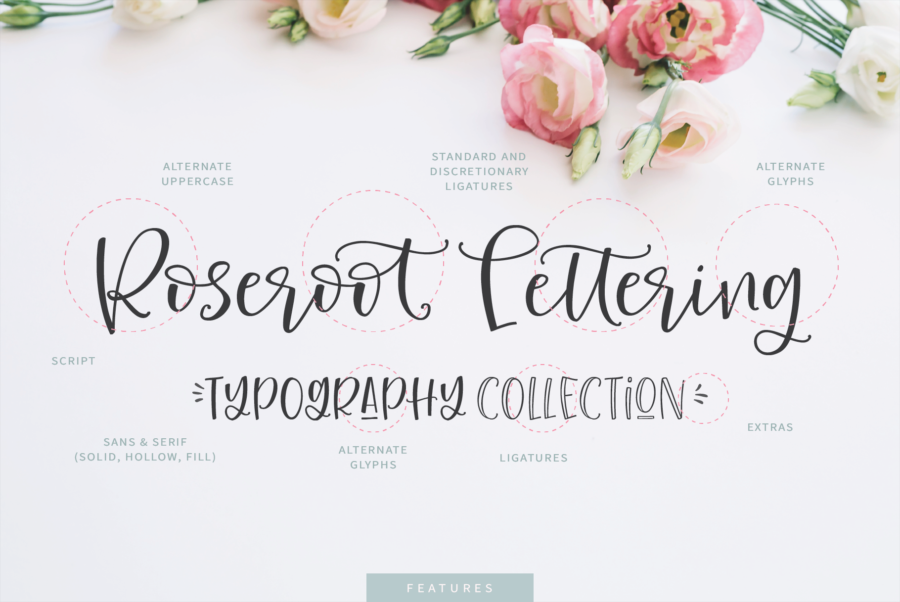 Roseroot Cottage Font Collection