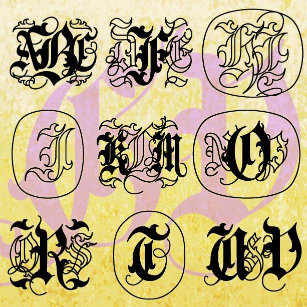 Gothic Vine Monograms