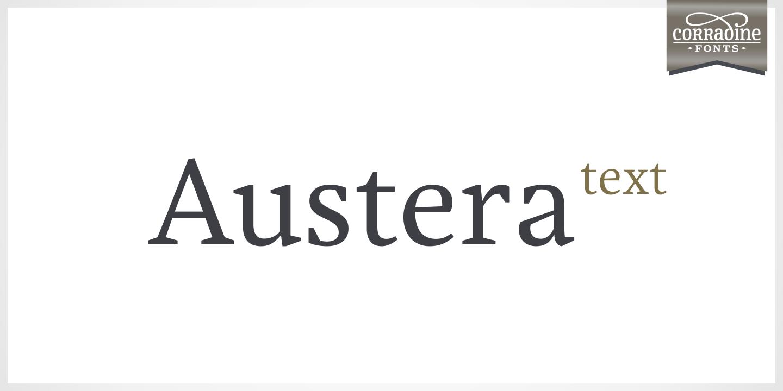 Austera Text