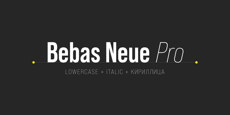 Bebas Neue Pro Exp Th It