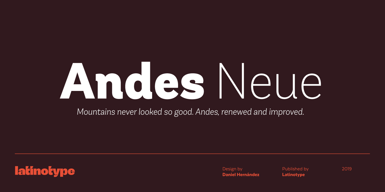 Andes Neue Alt3 Medium Italic