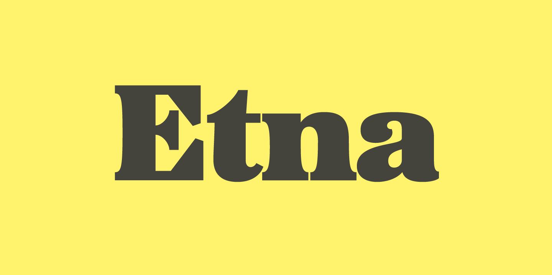 Etna Condensed Font Bundle