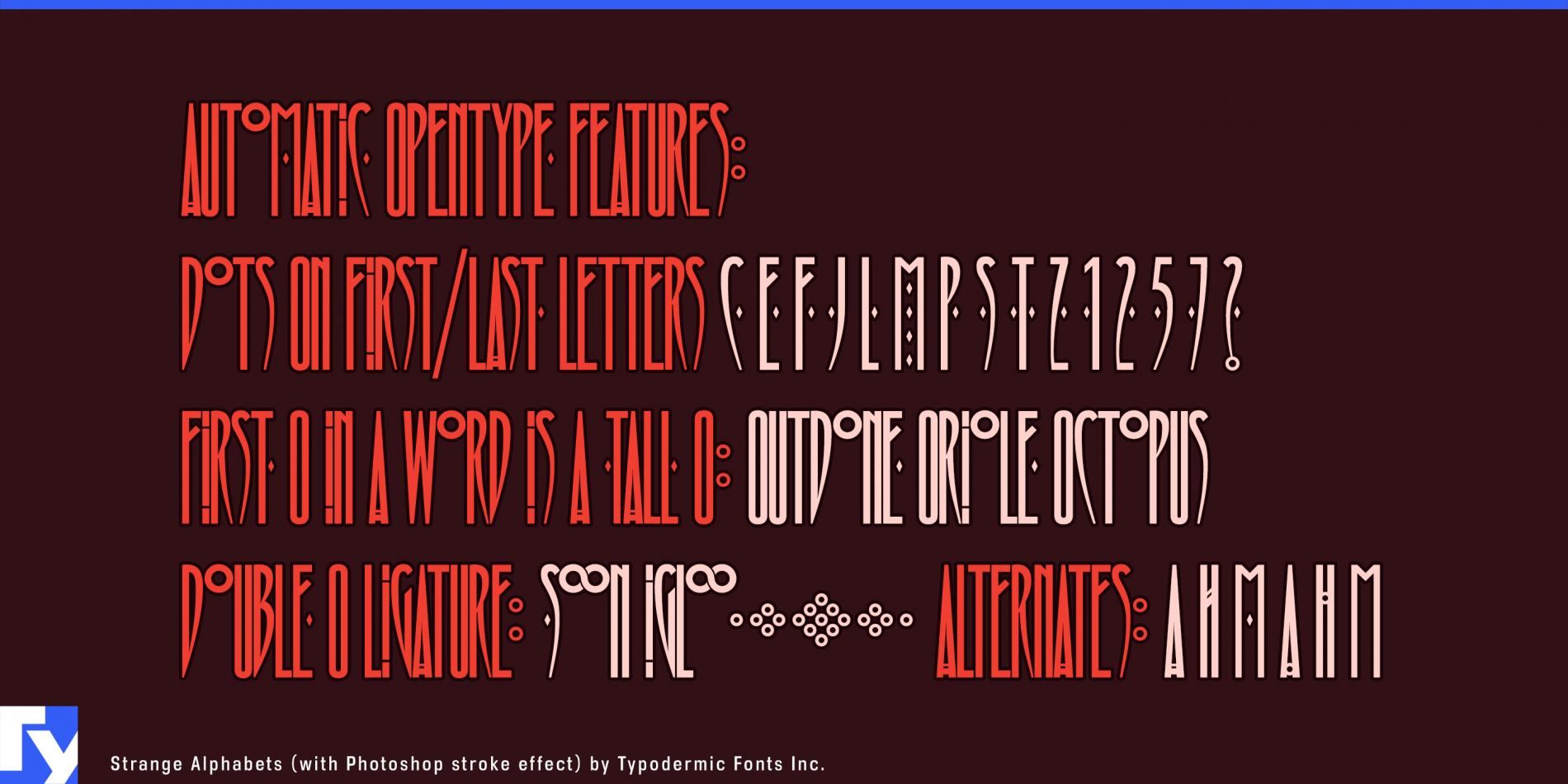 Strange Alphabets