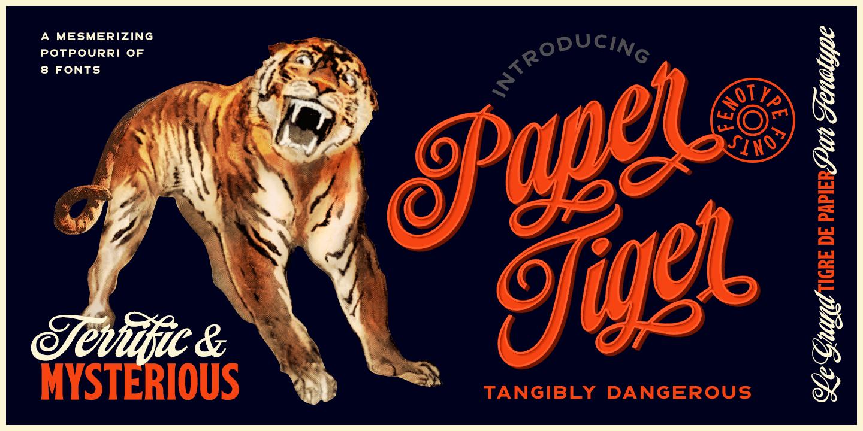 Paper Tiger Script Print