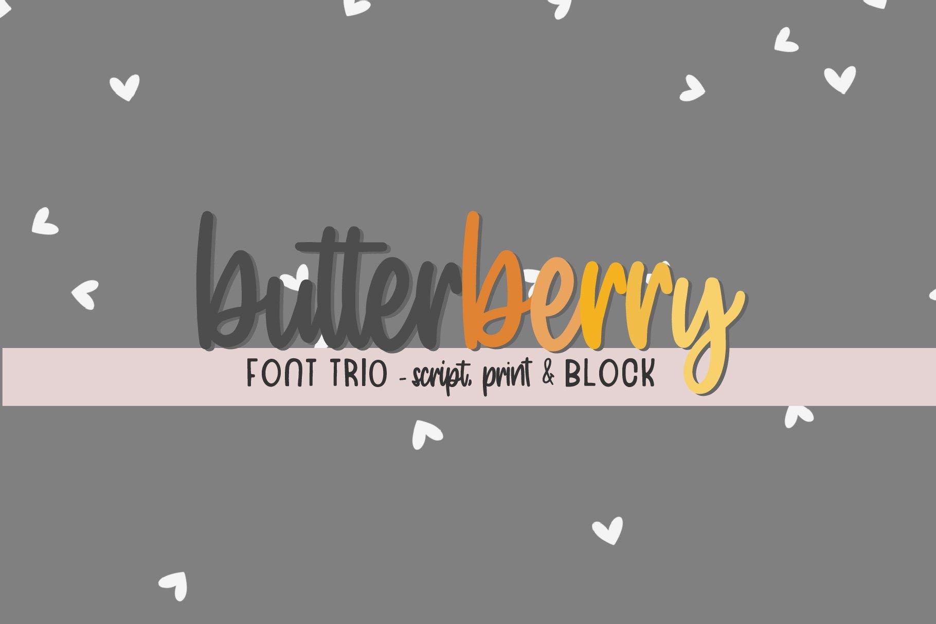 Butterberry Font Trio