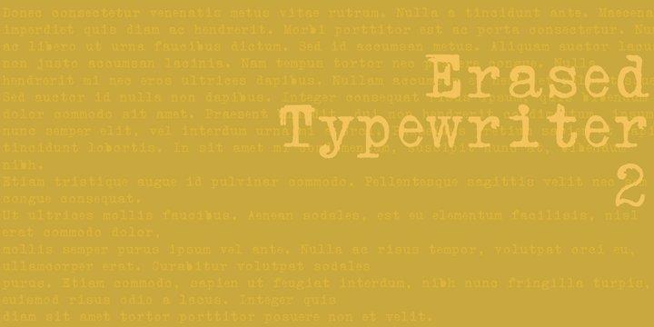Erased Typewriter 2