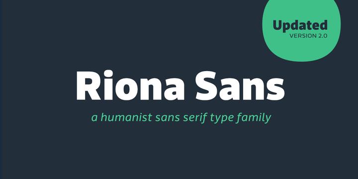 Riona Sans Black