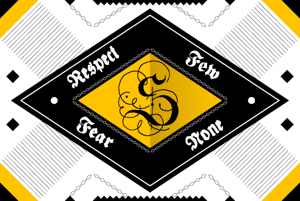 YWFT Fraktur Monogram