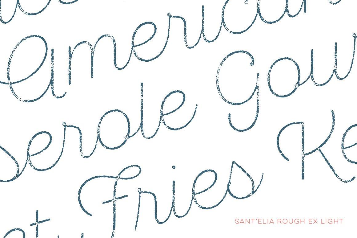 Sant Elia Script Rough Line