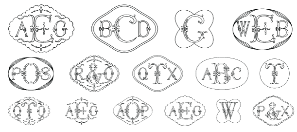 Filigree Monograms