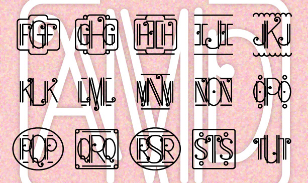 Art Deco Monograms