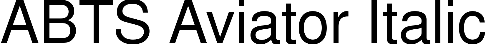 ABTS Aviator Italic