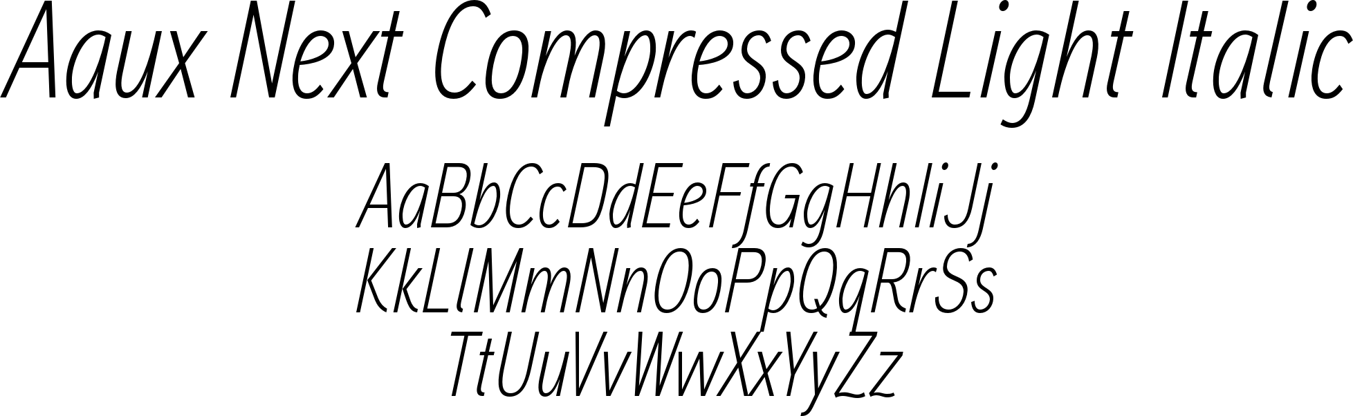 Aaux Next Compressed Light Italic