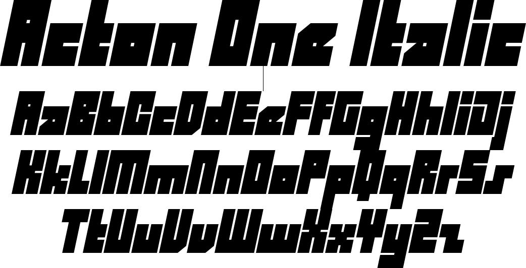 Acton One Italic