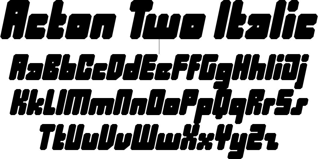 Acton Two Italic