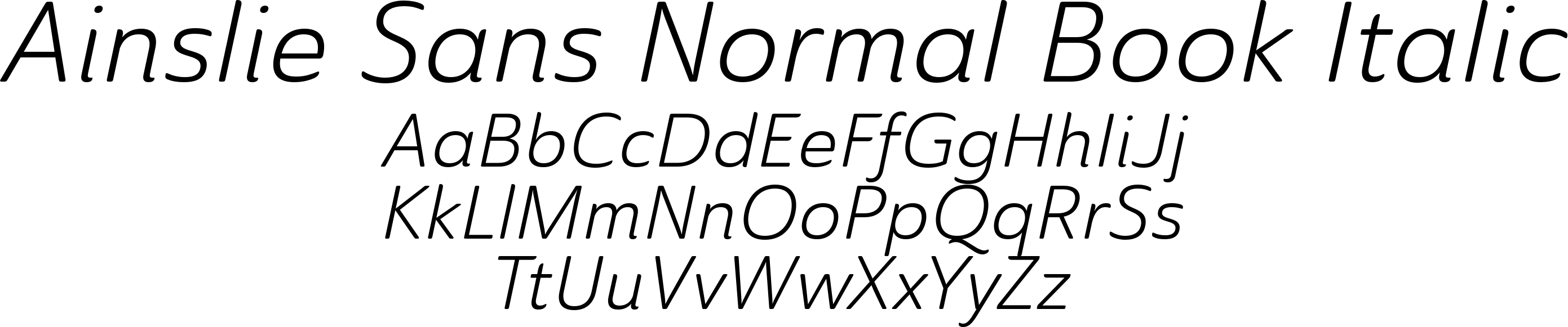 Ainslie Sans Normal Book Italic