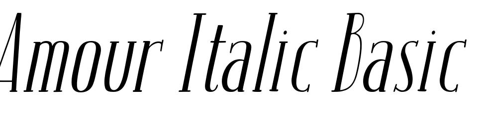 Amour Italic Basic