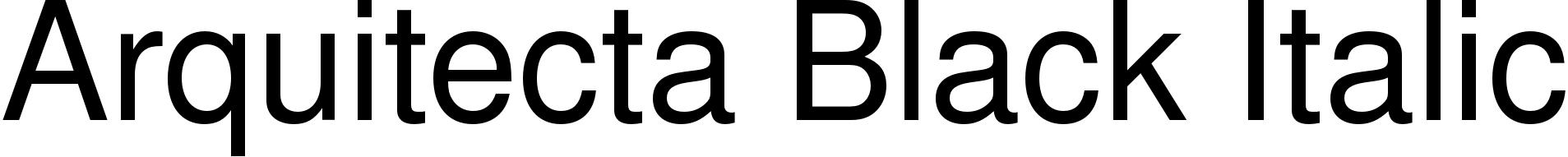 Arquitecta Black Italic