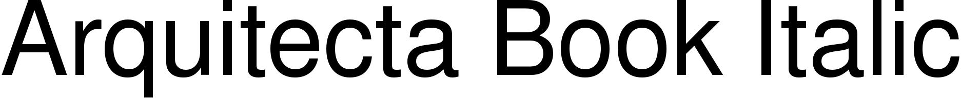 Arquitecta Book Italic