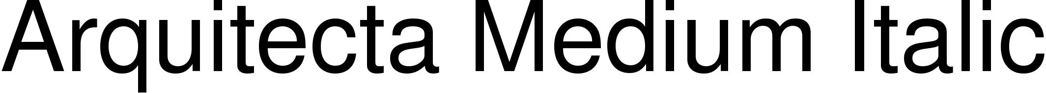 Arquitecta Medium Italic