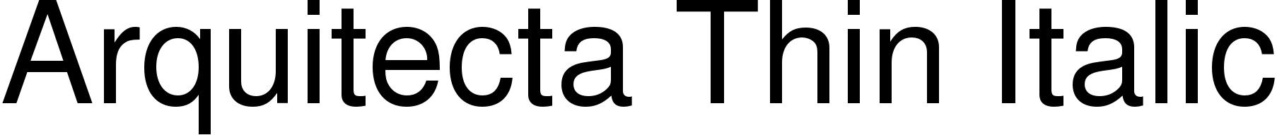 Arquitecta Thin Italic