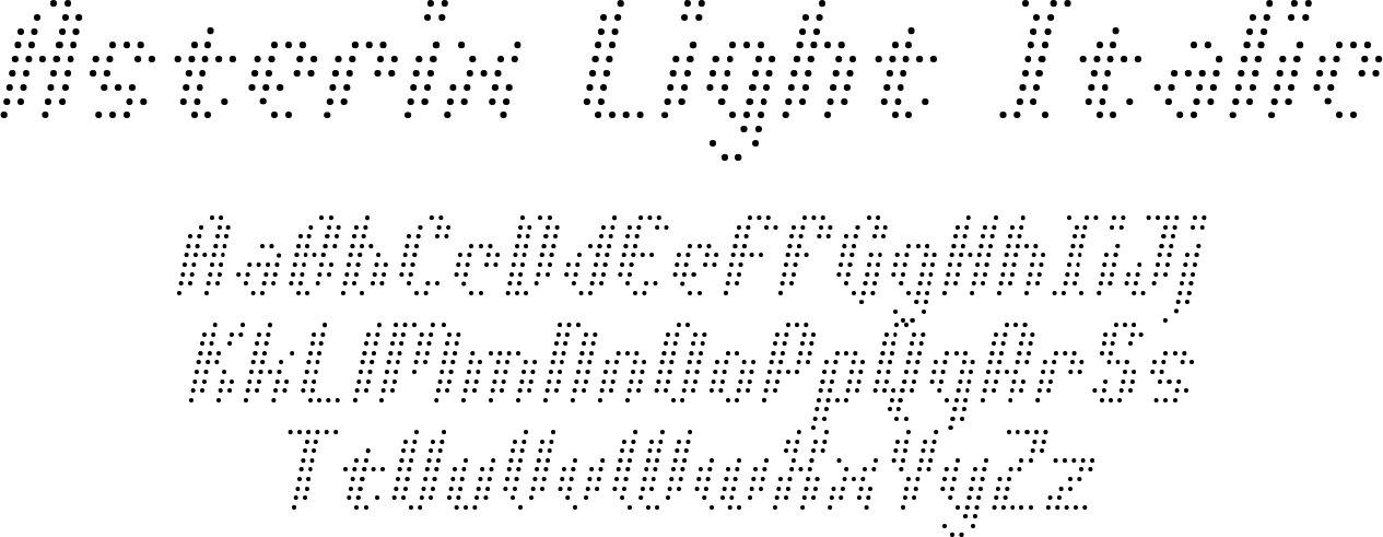 Asterix Light Italic